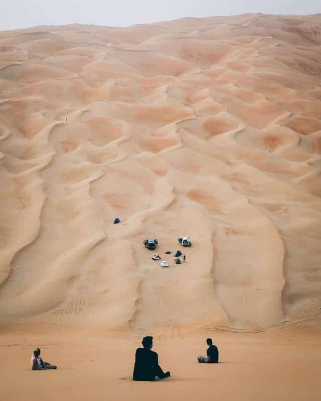 Camping spot au désert de LIWA aux UAE