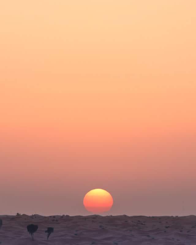 couché de soelil désert UAE
