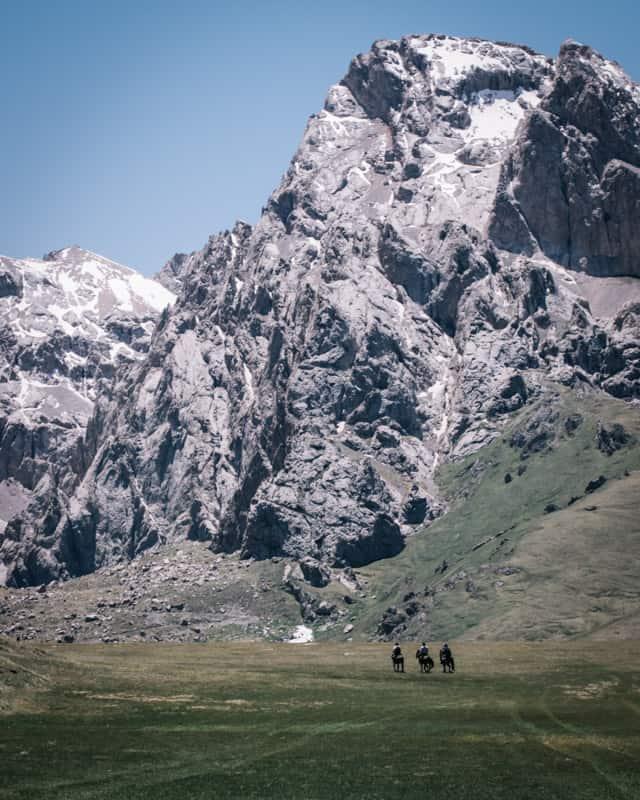 Itinéraire à cheval pour aller au Lac Kol Suu à cheval au Kirghizistan