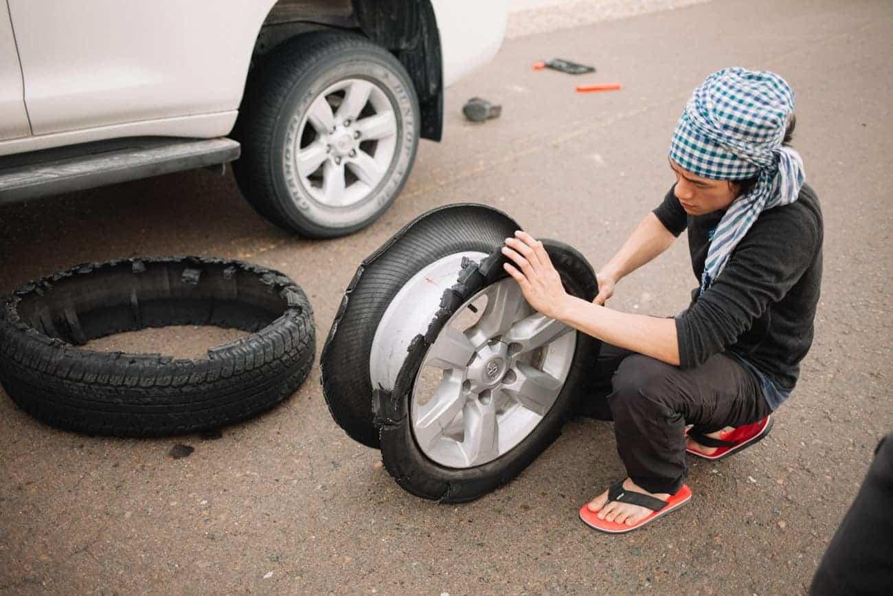 problème de roue avec le 4x4 quand on roule sur le sable puis sur l'asphalte