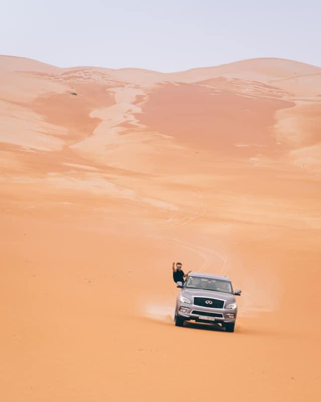 Road trip OFF ROAD emirats Toyota