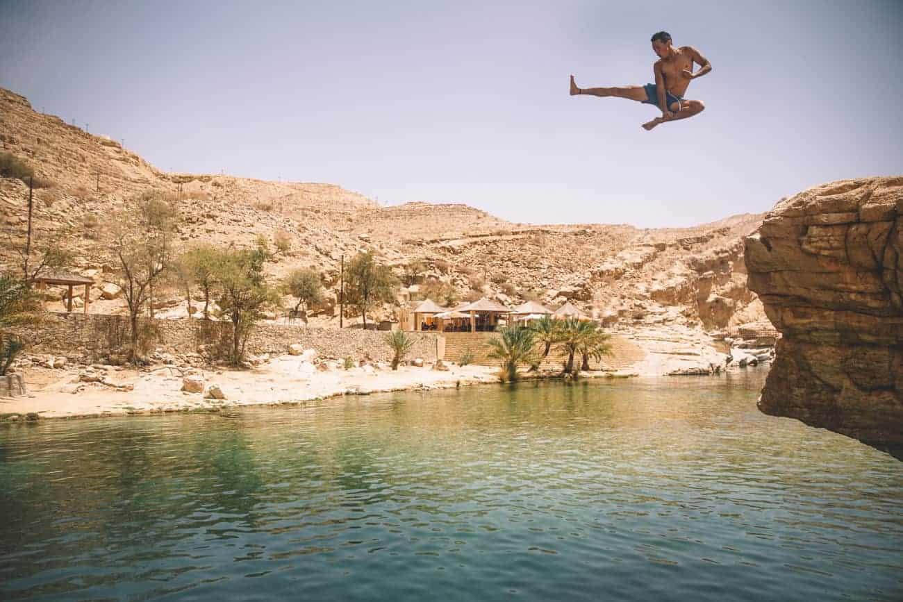 wadi oman Clermont fu saute dans une piscine wadi