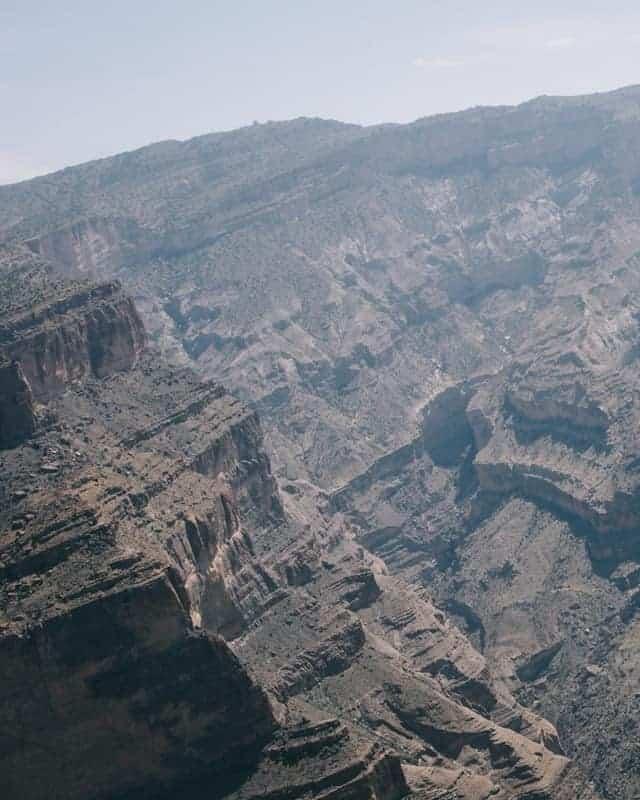 Le grand canyon du plateau Sayk en photo