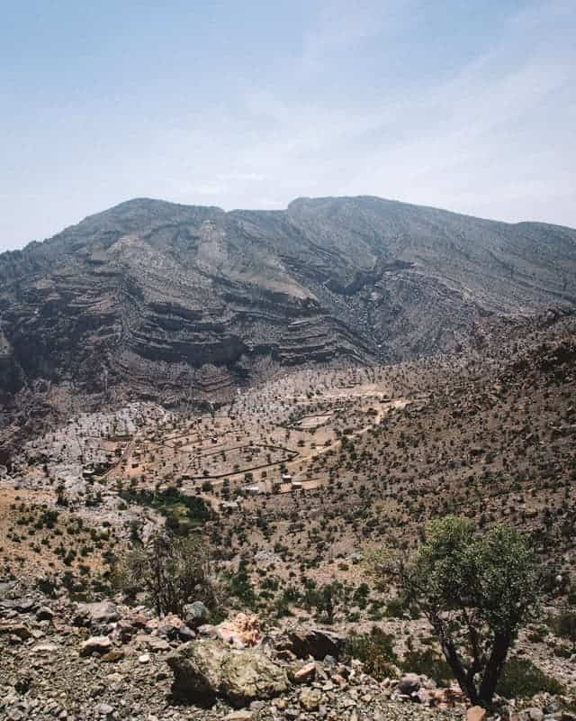 plateau sayq oman paysage - Piste 4x4
