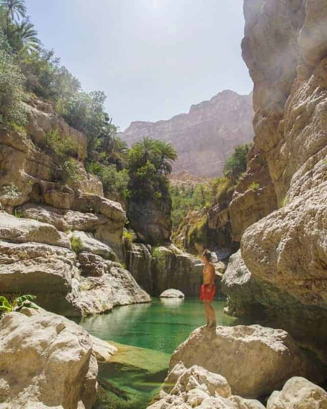 wadi tiwi oman eau turquoise