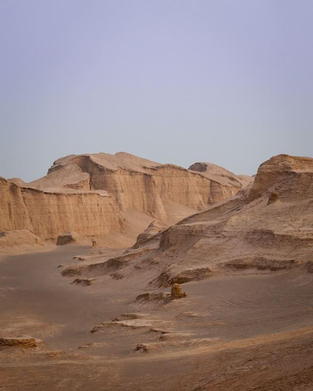 désert de Kerman en Iran dune de sable