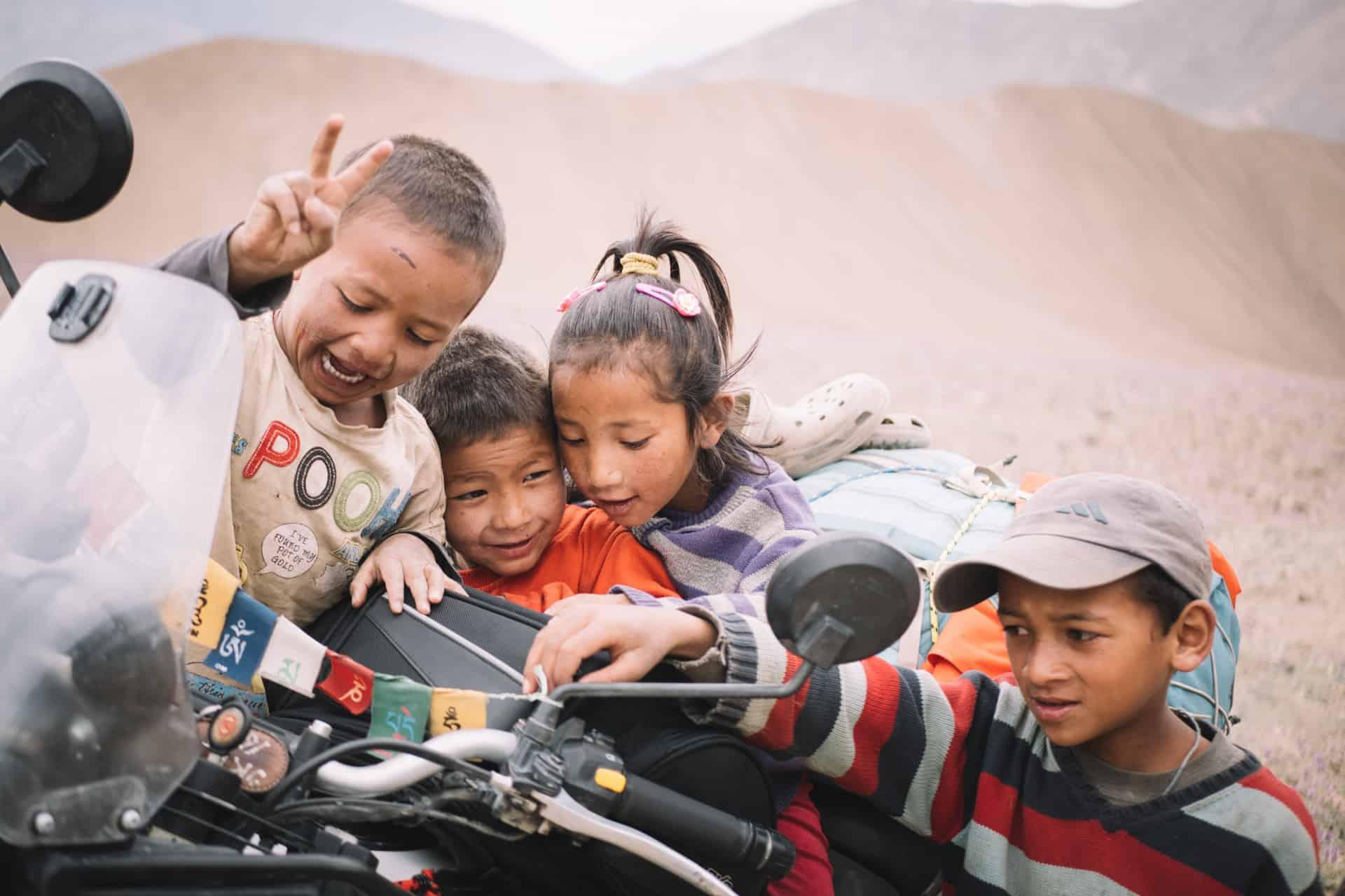 Des enfants du Ladakh en Inde