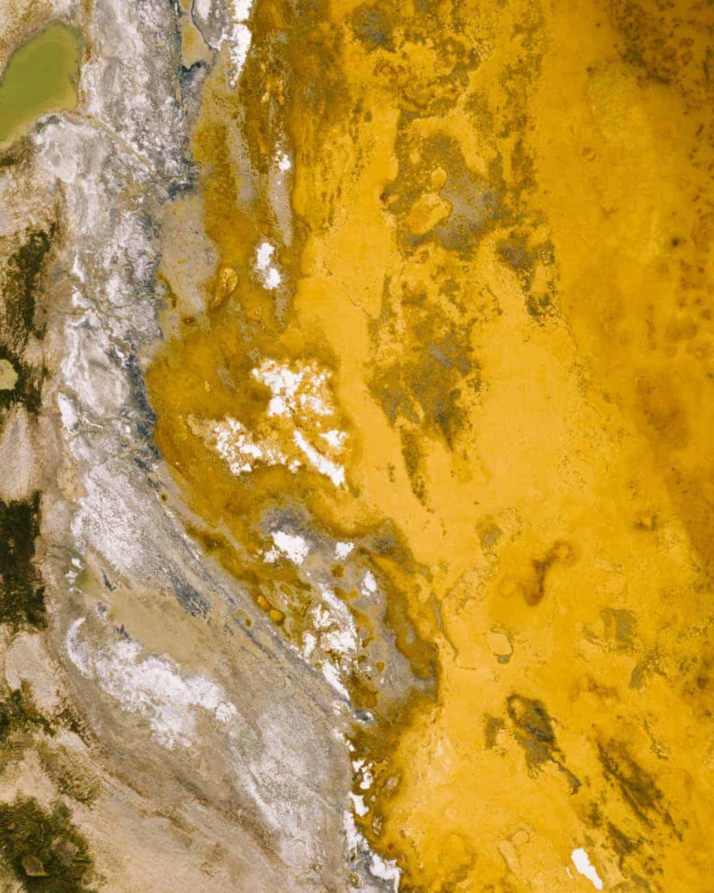 Vue de drone du Lac rouge Tso Kar
