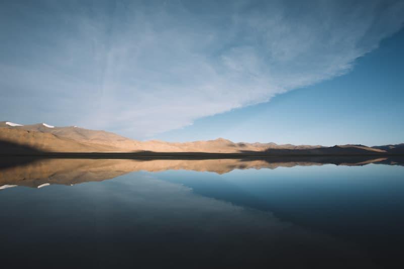 ladakh lac pangong reflet eau