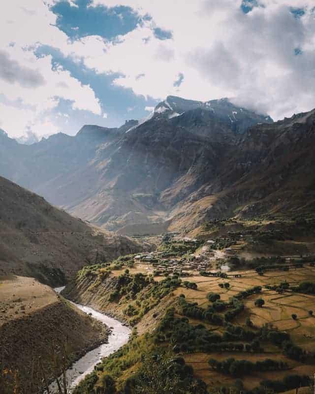 Magnifique Village de Panikhar au Ladakh