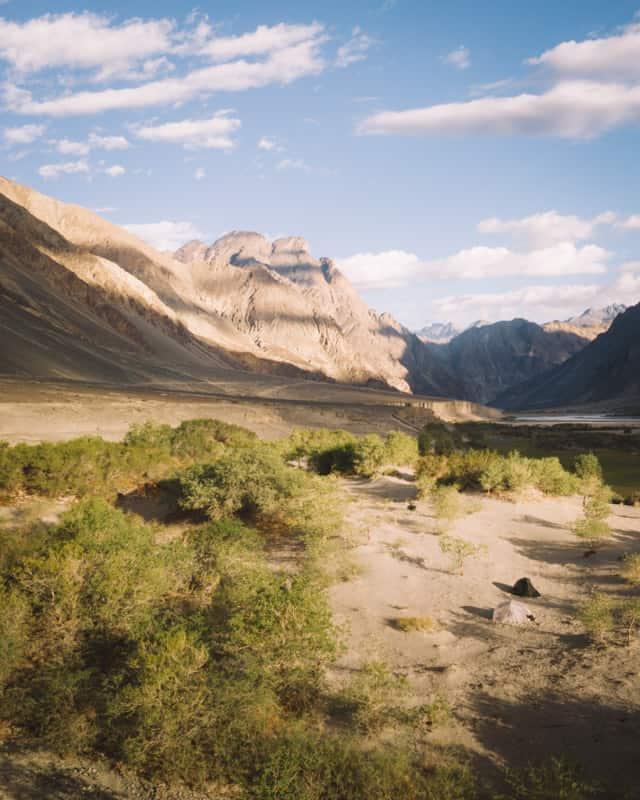 Spot bivouac nubra vallée camping sauvage Ladakh