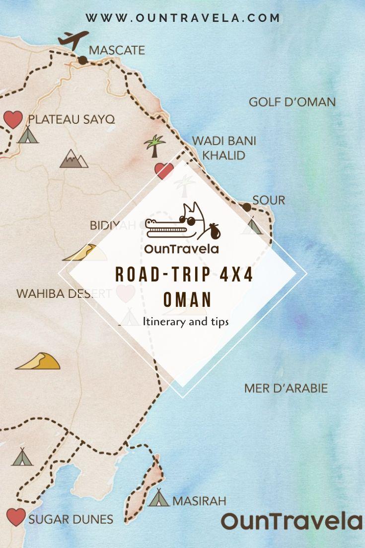 Notre itinéraire en 4x4 à Oman : spots de bivouac, traces GPS, voyage d'aventure