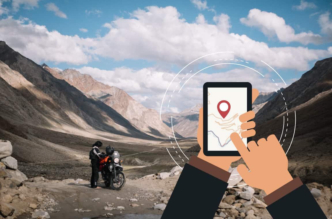 trace GPS Ladakh moto 4x4 velo