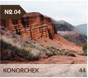 Le canyon de Konorchek, piste 4x4 et randonnée